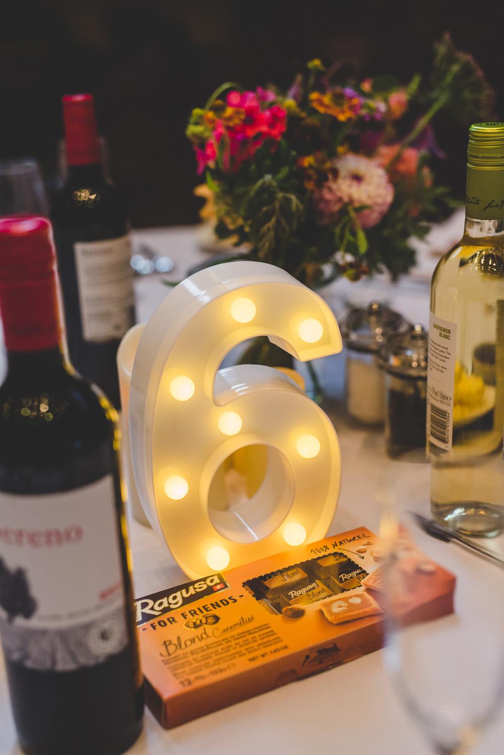 Light Up Number Circus Bulb Table Victoria Gallery Museum Wedding Emma Hillier Photography