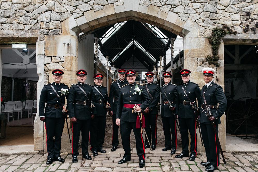 Military Uniform Groom Groomsmen Wyresdale Park Wedding Lisa Howard Photography