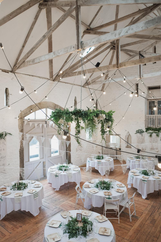 Greenery Hoop Festoon Lighting Bunting Wyresdale Park Wedding Lisa Howard Photography