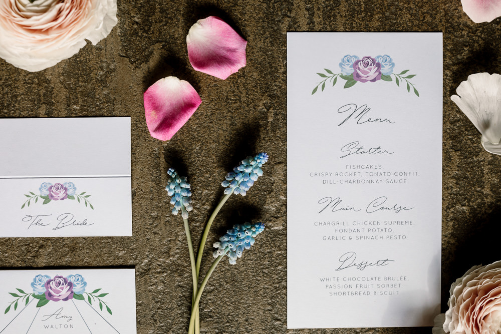 Stationery Invite Invitations Pretty Floral Flower Blossom Barn Wedding Ideas Hayley Baxter Photography