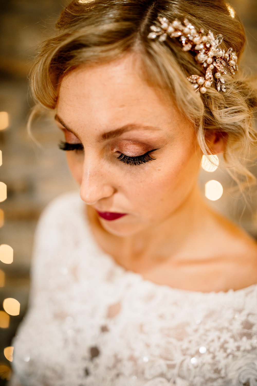 Bride Bridal Make Up Beauty Blossom Barn Wedding Ideas Hayley Baxter Photography