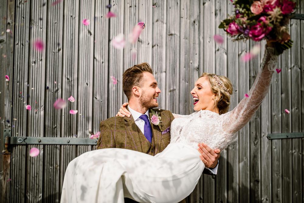 Petal Confetti Blossom Barn Wedding Ideas Hayley Baxter Photography