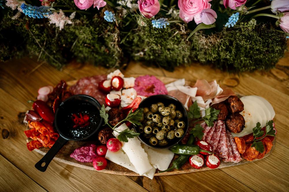Serving Platter Feast Food Blossom Barn Wedding Ideas Hayley Baxter Photography