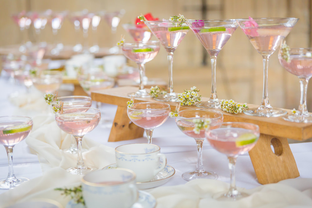 Pink Cocktails Display Bodleian Library Wedding Anita Nicholson Photography