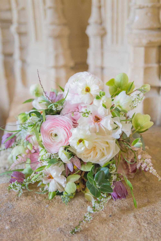 Bride Bridal Bouquet Peony Pink Blush Wildflower Bodleian Library Wedding Anita Nicholson Photography