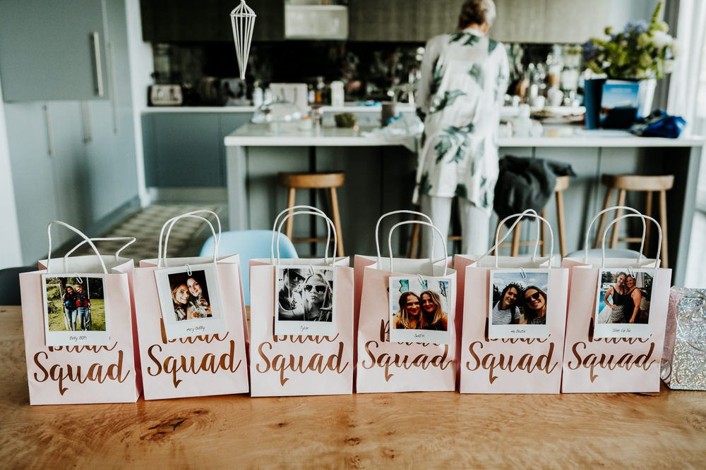 Bride Squad Bags Gift Contemporary Barn Wedding Ryan Goold Photography