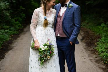 Colourful & Homegrown Outdoor Cotswolds Garden Wedding