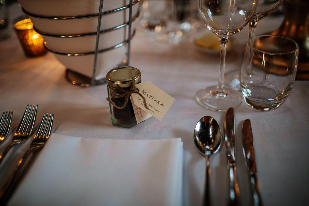 Jam Jar Favours Cowdray House Wedding Matt Sim Photography