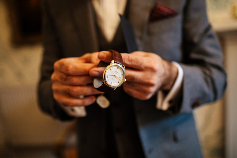 Watch Gift Present Groom Cowdray House Wedding Matt Sim Photography