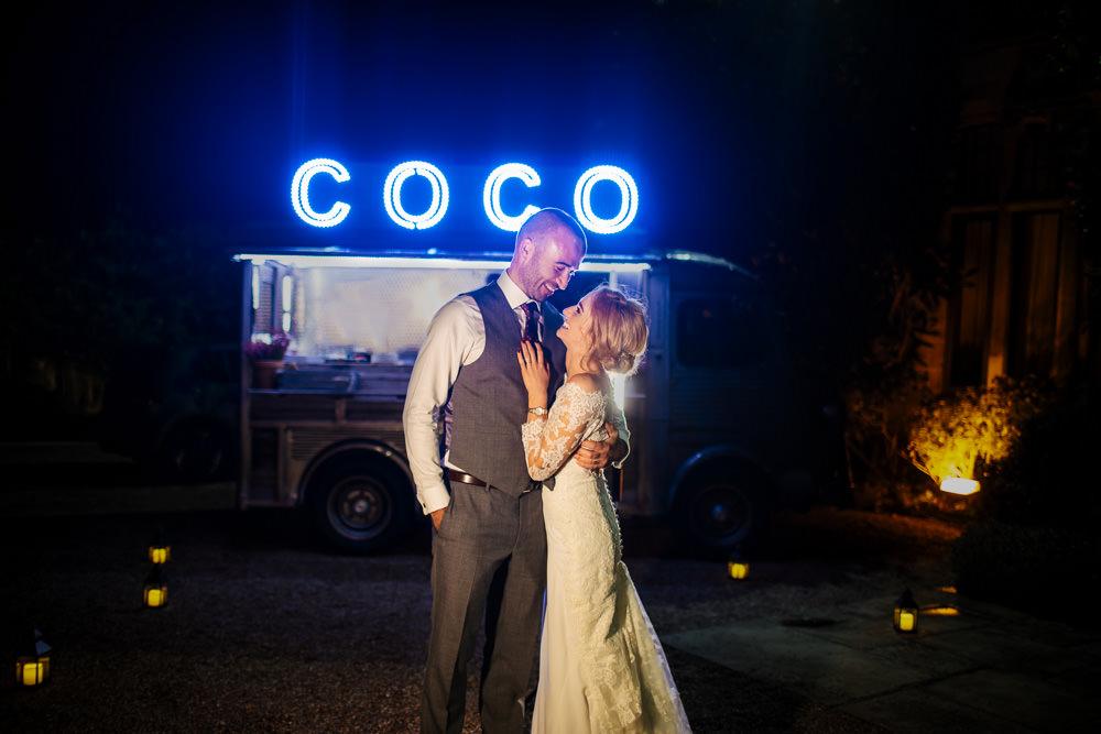 Food Truck Van Cowdray House Wedding Matt Sim Photography