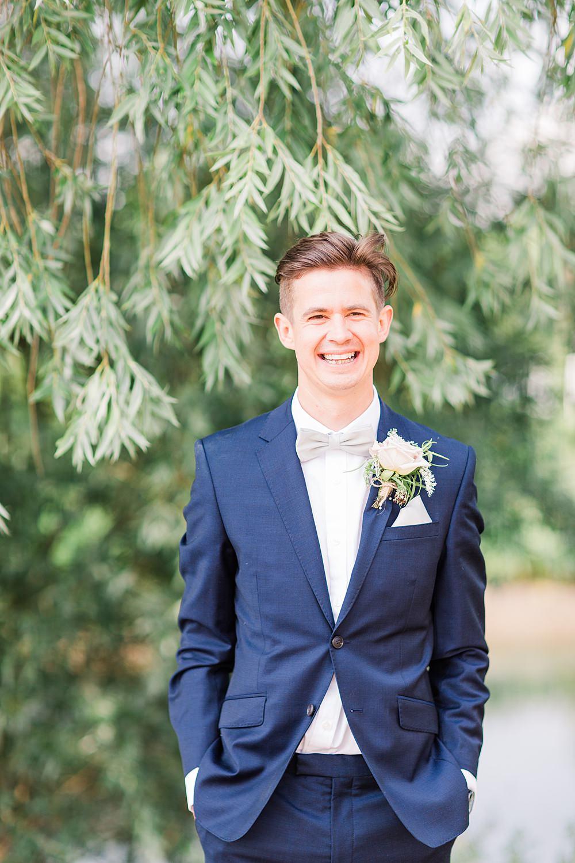 Groom Suit Bow Tie Navy Granary Estates Wedding Terri & Lori Fine Art Photography and Film Studio