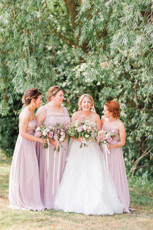 Long Pink Bridesmaids Bridesmaid Dress Dresses Granary Estates Wedding Terri & Lori Fine Art Photography and Film Studio