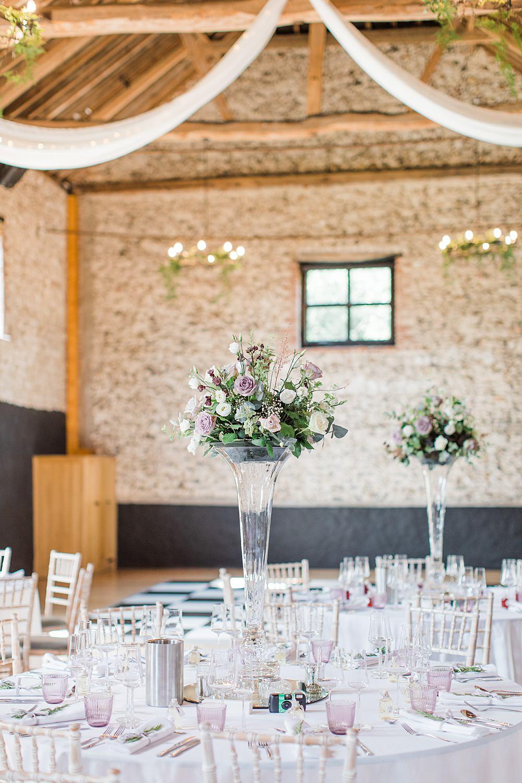 Tall Flower Arrangements Centrepiece Granary Estates Wedding Terri & Lori Fine Art Photography and Film Studio