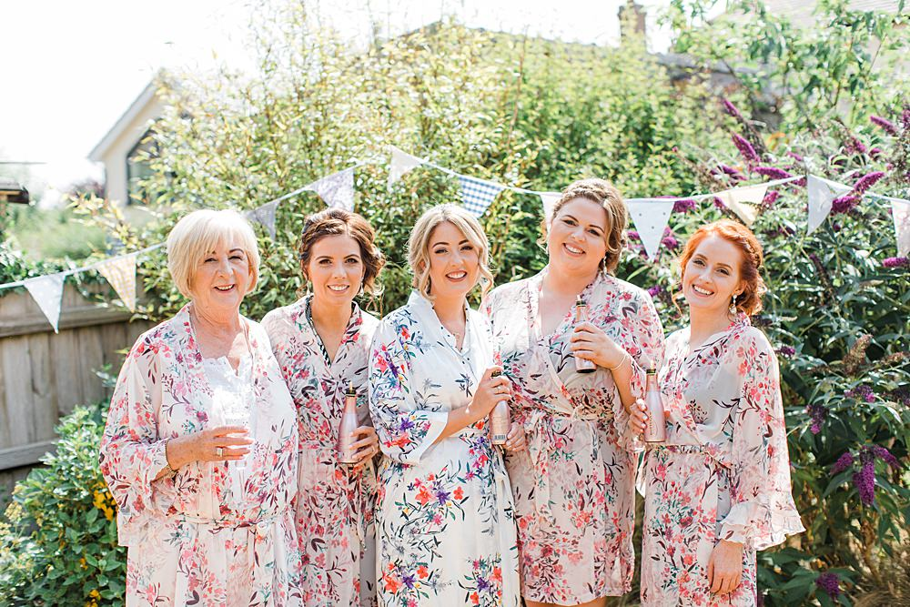 Bridesmaids Dressing Gown Robes Floral Bride Bridal Granary Estates Wedding Terri & Lori Fine Art Photography and Film Studio