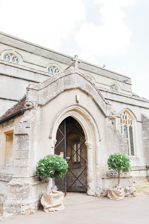 Church Entrance Door Trees Granary Estates Wedding Terri & Lori Fine Art Photography and Film Studio