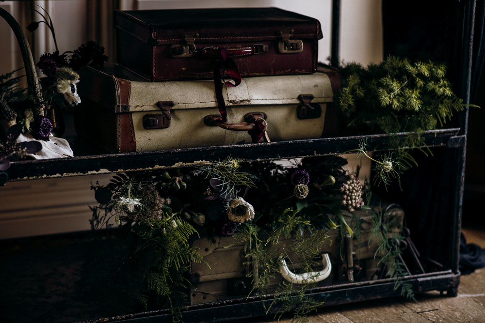 Suitcases Decor Harry Potter Wedding Ideas Thyme Lane Photography