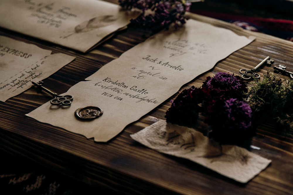 Invitation Invite Stationery Wax Seal Harry Potter Wedding Ideas Thyme Lane Photography