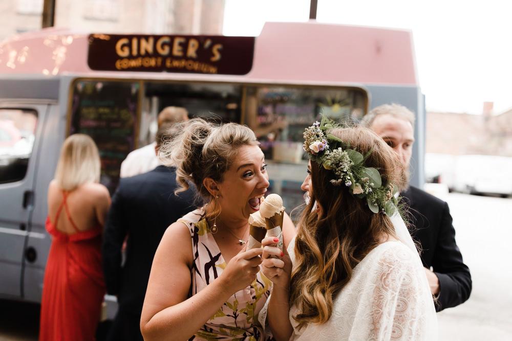 Ice Cream Van Truck Hope Mill Theatre Wedding Lee Garland Photography