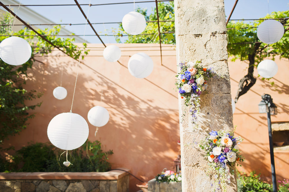 Lanterns Kefalonia Wedding Cotton Candy Weddings