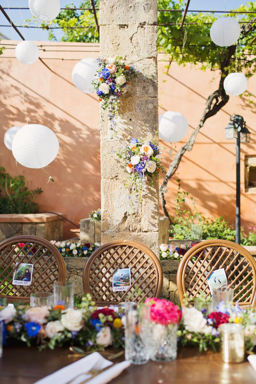 Lanterns Outdoors Kefalonia Wedding Cotton Candy Weddings
