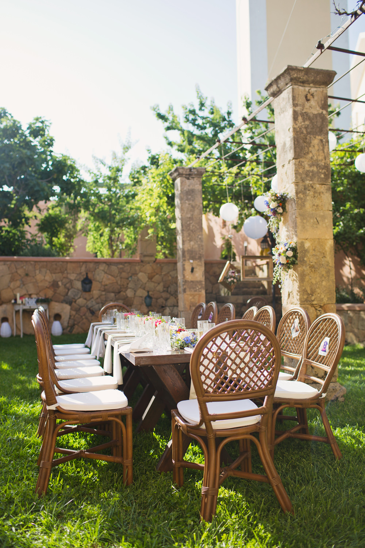 Outdoor Table Tablescape Reception Kefalonia Wedding Cotton Candy Weddings