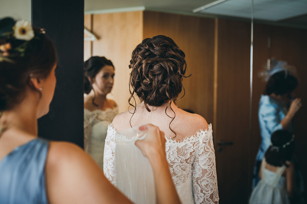 Bride Bridal Hair Style Up Do Kingsettle Stud Wedding Mark Tattersall Photography