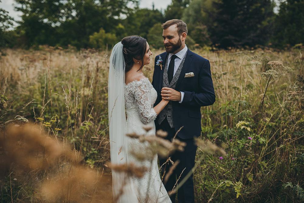 Groom Suit Waistcoat Tie Navy Grey Kingsettle Stud Wedding Mark Tattersall Photography