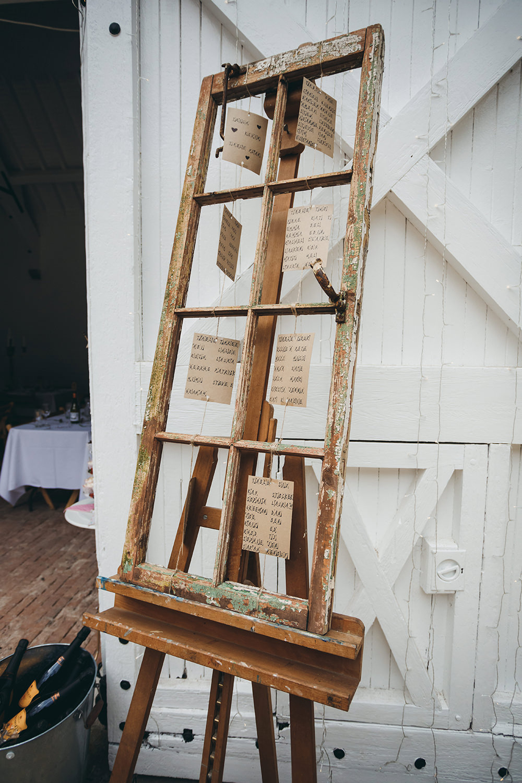 Wooden Window Seating Plan Table Chart Kingsettle Stud Wedding Mark Tattersall Photography