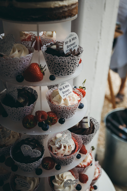 Cupcakes Tower Cake Kingsettle Stud Wedding Mark Tattersall Photography