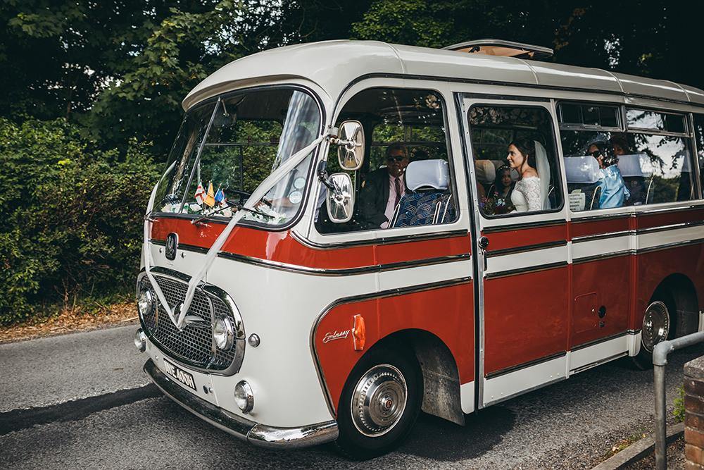 Vintage Bus Coach Transport Kingsettle Stud Wedding Mark Tattersall Photography