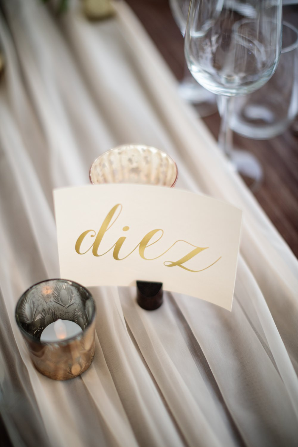 Table Name Gold Calligraphy Los Cabos Wedding Anna Gomes Photo