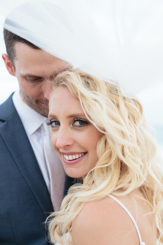 Bride Bridal Hair Make Up Waves Los Cabos Wedding Anna Gomes Photo