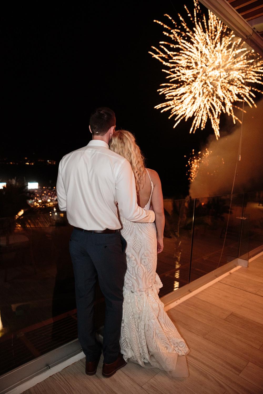 Fireworks Los Cabos Wedding Anna Gomes Photo
