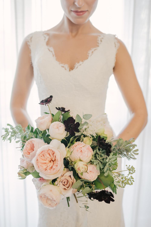 Bouquet Flowers Bride Bridal Blush Rose Astilbe Milan Wedding Rossella Putino Photographer