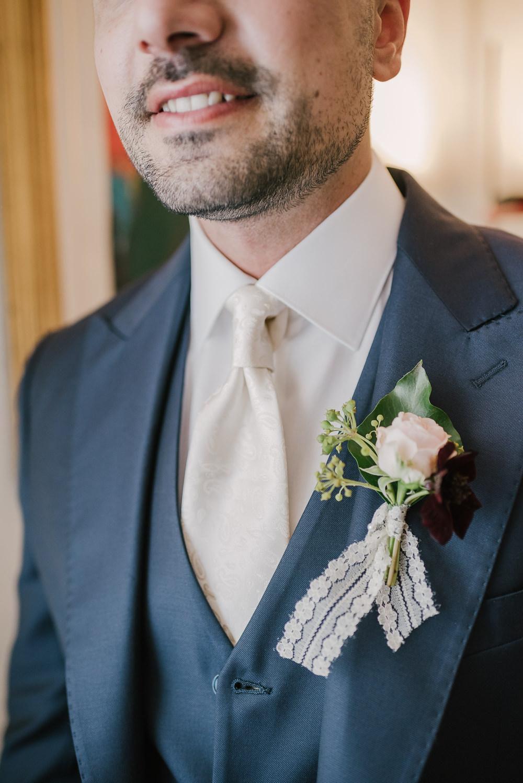 Groom Buttonhole Flowers Milan Wedding Rossella Putino Photographer