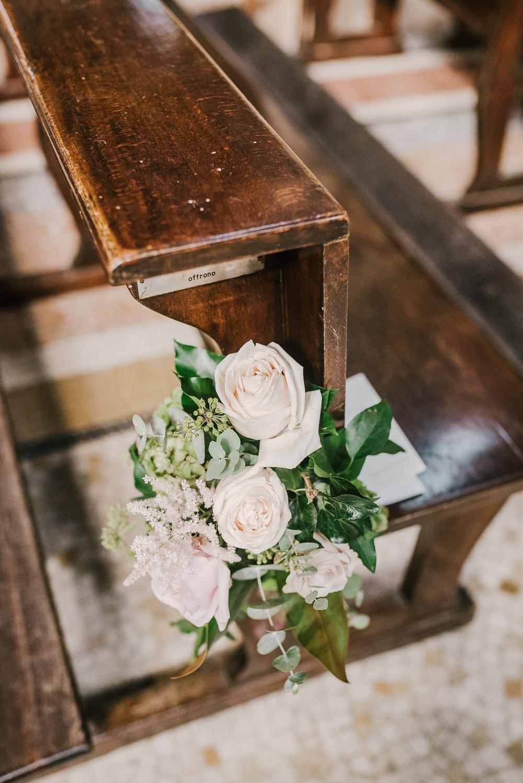 Pew End Flowers Rose Milan Wedding Rossella Putino Photographer