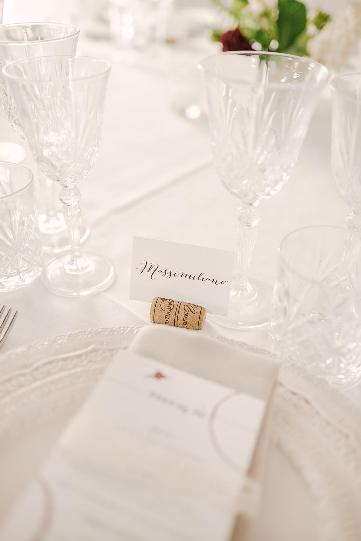 Cork Place Name Setting Milan Wedding Rossella Putino Photographer
