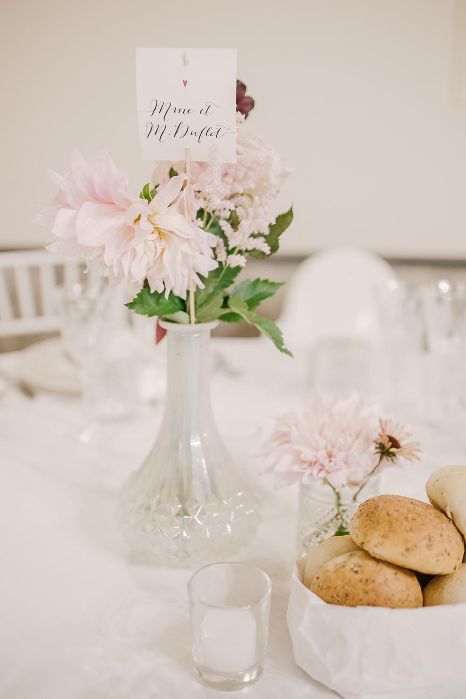 Table Decor Flowers Vase Roses Pink Milan Wedding Rossella Putino Photographer