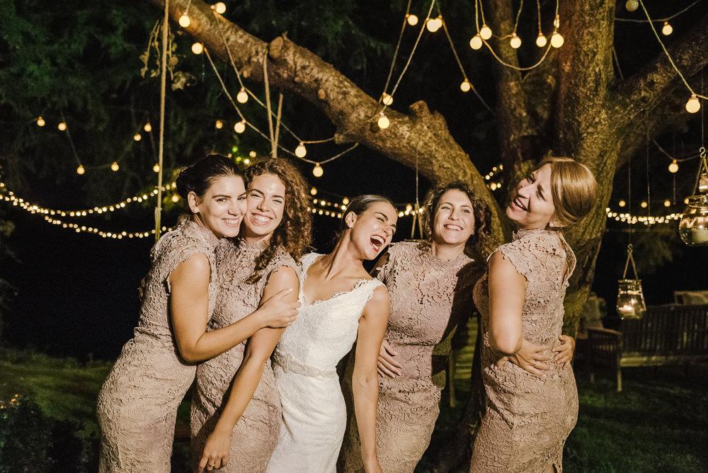Pink Lace Bridesmaid Dress Dresses Bridesmaids Milan Wedding Rossella Putino Photographer
