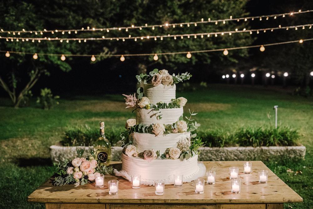 Buttercream Cake Flowers Pink Roses Milan Wedding Rossella Putino Photographer