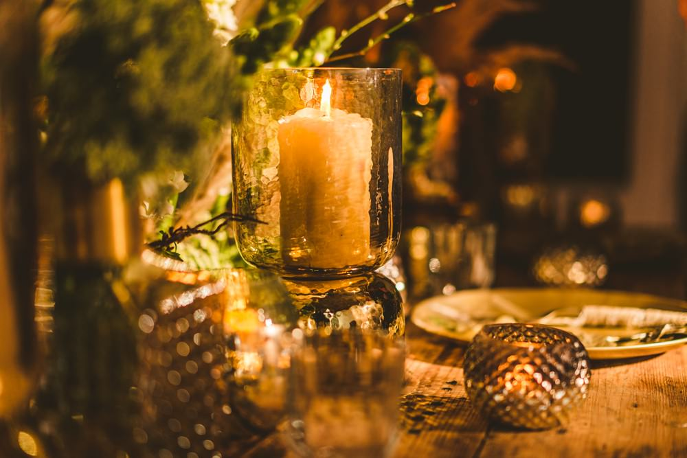 Table Tablescape Decor Flowers Centrepiece Candles Pampas Grass Wedding Ideas Tim Stephenson Photography