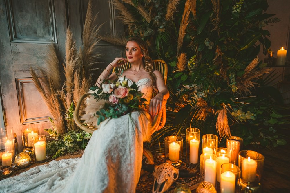 Wicker Rattan Chair Pampas Grass Wedding Ideas Tim Stephenson Photography