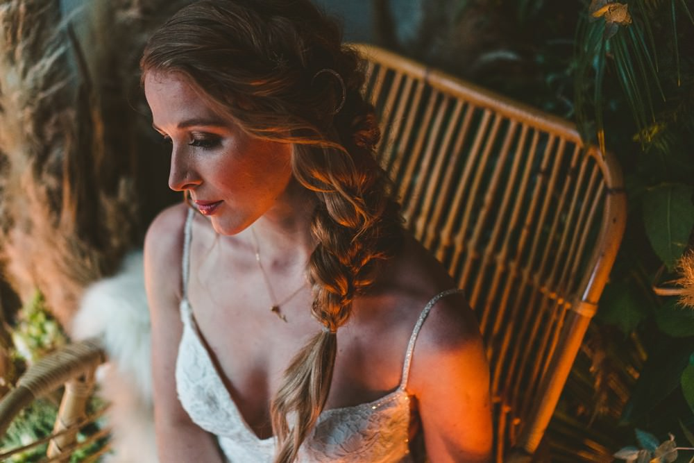 Hair Bride Bridal Style Plait Braid Celestial Star Moon Accessory Pampas Grass Wedding Ideas Tim Stephenson Photography