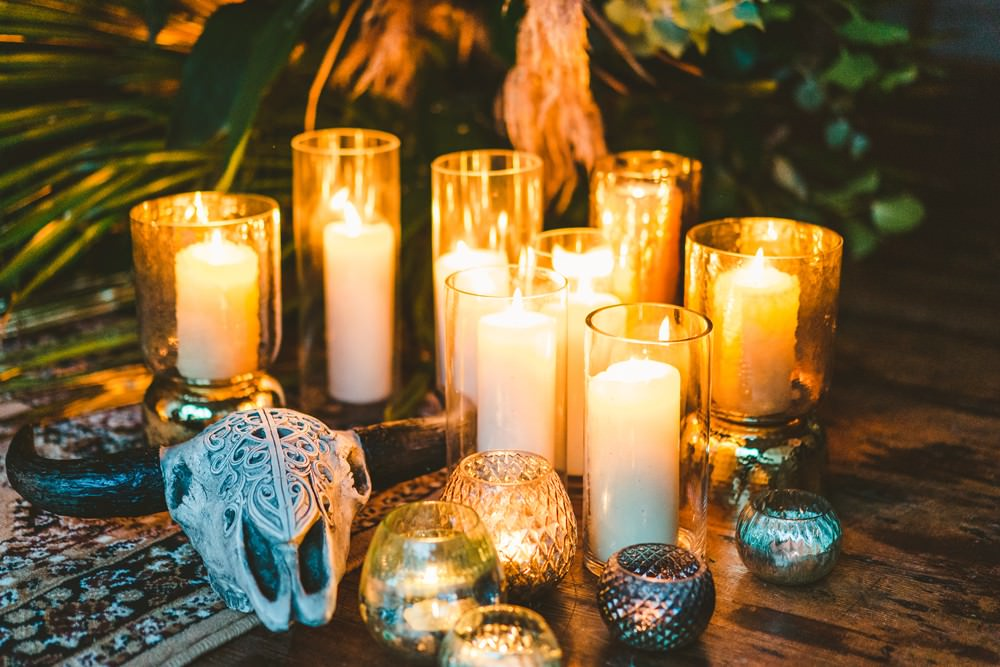 Candles Lighting Decor Pampas Grass Wedding Ideas Tim Stephenson Photography