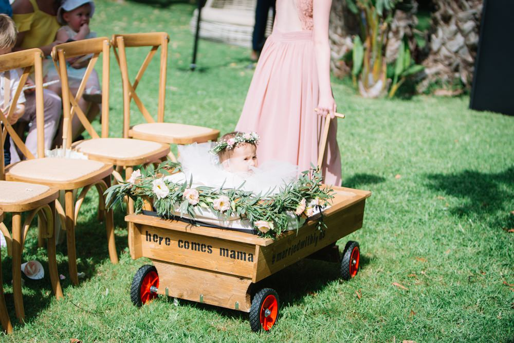 Flower Girl Baby Wagon Trailer Here Comes Mama Saint Tropez Wedding Sophie Boulet Photographe