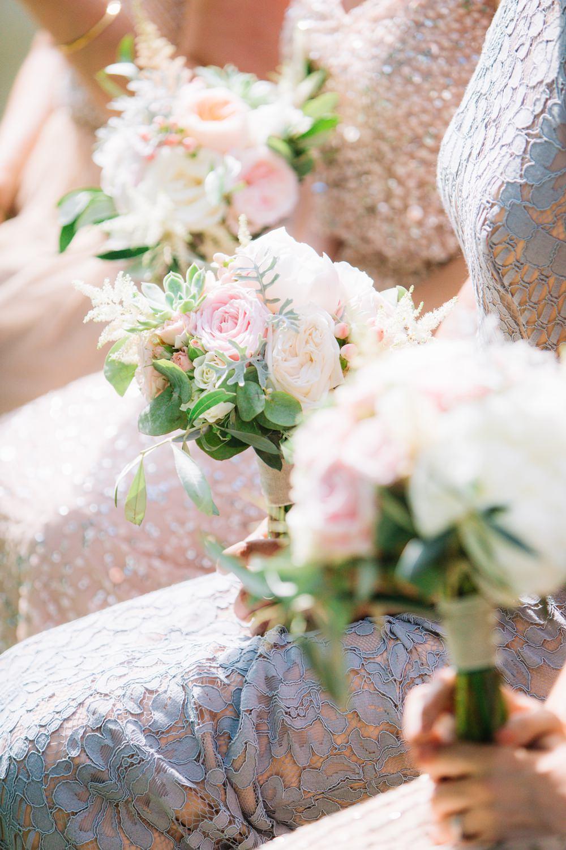 Bride Bridal Bridesmaids Bouquet Pink Peach Coral Succulent Saint Tropez Wedding Sophie Boulet Photographe