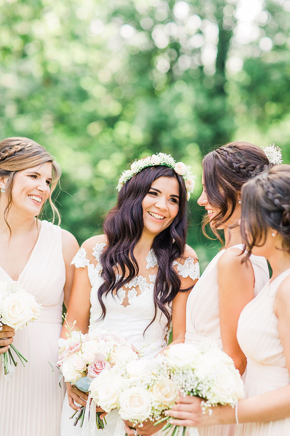 Bride Bridal Bridesmaids Hair Style Up Do Sheene Mill Wedding Terri & Lori Photography and Film Studio