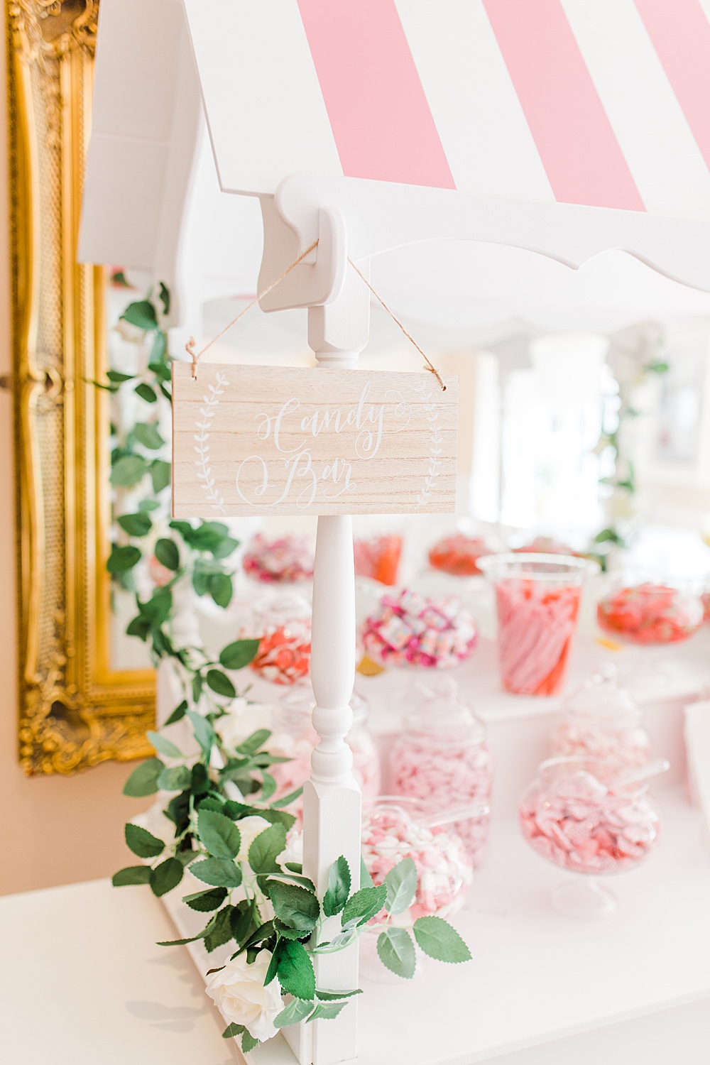 Sweets Sweetie Cart Table Station Sheene Mill Wedding Terri & Lori Photography and Film Studio