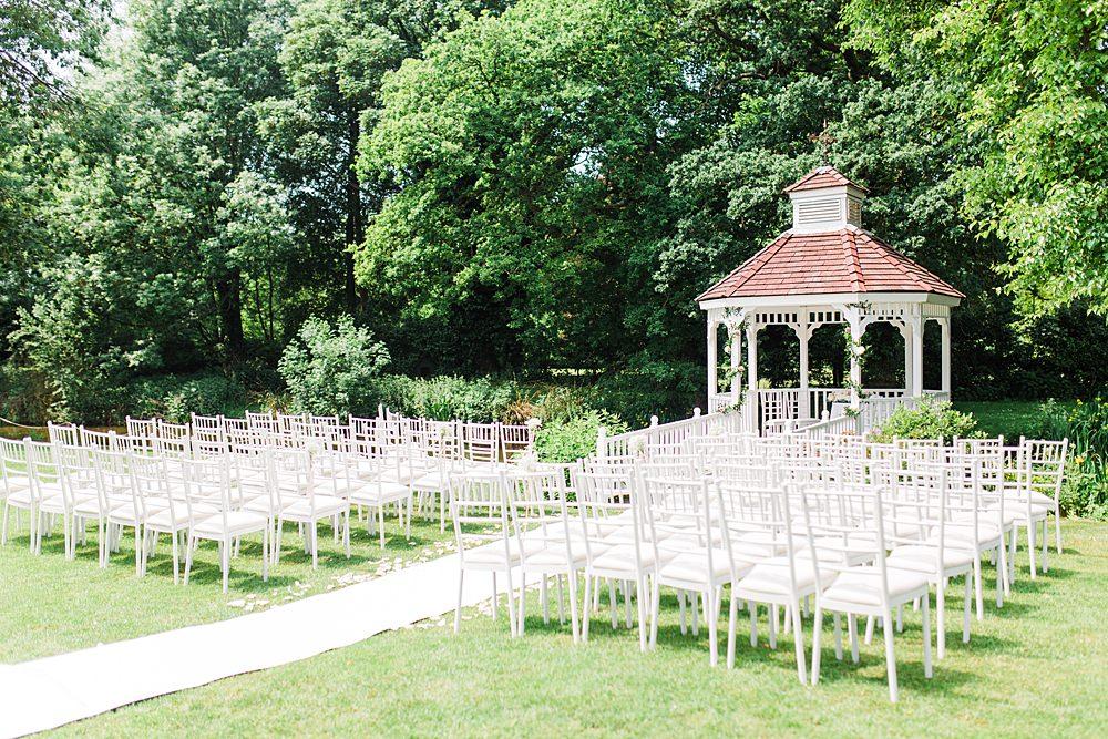 Outdoor Ceremony Gazebo Sheene Mill Wedding Terri & Lori Photography and Film Studio