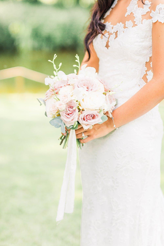 Bouquet Flowers Bride Bridal Blush Cream Rose Pink Pastel Sheene Mill Wedding Terri & Lori Photography and Film Studio